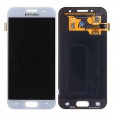 Pantalla completa para Samsung Galaxy A3 2017 A320 azul claro original