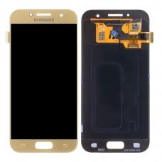 Pantalla completa para Samsung Galaxy A3 2017 A320 oro original