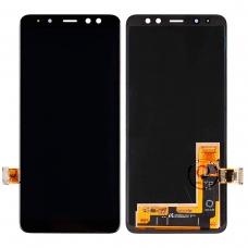Pantalla completa para Samsung Galaxy A8 2018 A530 negra original