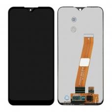 Pantalla completa sin marco para Samsung Galaxy A01 A015M negra original (No eu versión)