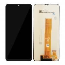 Pantalla completa sin marco para Samsung Galaxy A02 A022F/M12 M127 negra original